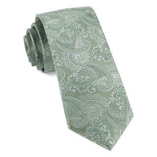 Twill Paisley Moss Green Tie