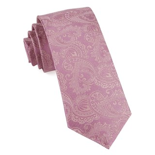 twill paisley dusty rose ties