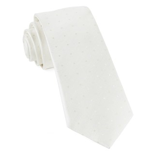 Suited Polka Dots Ivory Tie