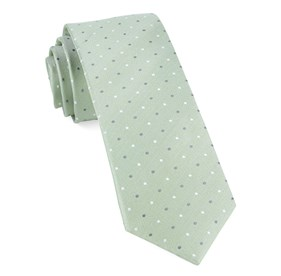 Sage Green Suited Polka Dots ties