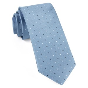 suited polka dots steel blue ties