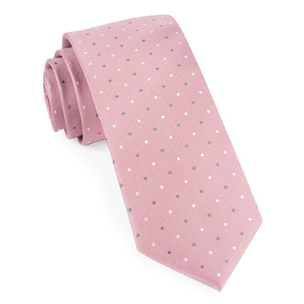 Soft Pink Suited Polka Dots Tie