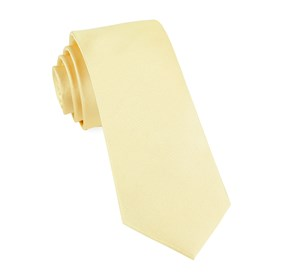 Butter Grosgrain Solid ties