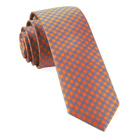 Tangerine Commix Checks boys ties