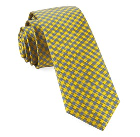 Yellow Commix Checks boys ties