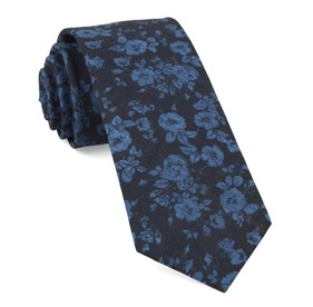 Navy Linen Buds ties