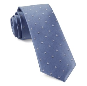 Light Blue Sailboat Sprint ties
