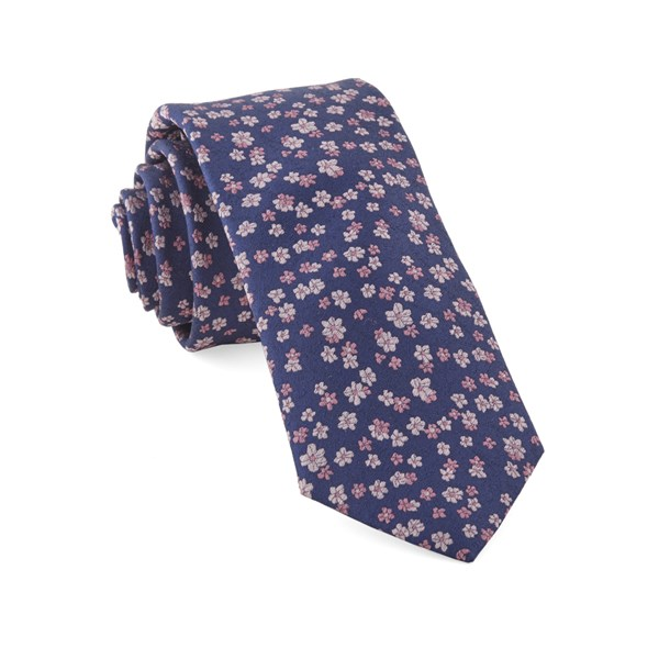 Purple Free Fall Floral Tie