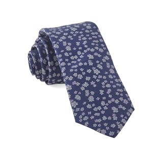 Free Fall Floral Lavender Tie