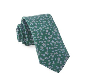 Kelly Green Free Fall Floral boys ties