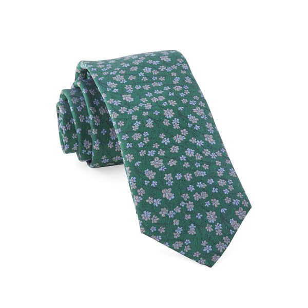 Kelly Green Free Fall Floral Tie