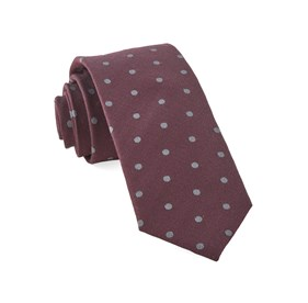 Burgundy Dotted Hitch ties