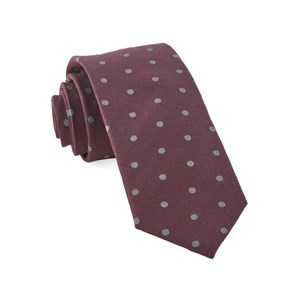 dotted hitch burgundy ties