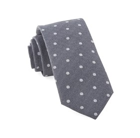 Grey Dotted Hitch ties