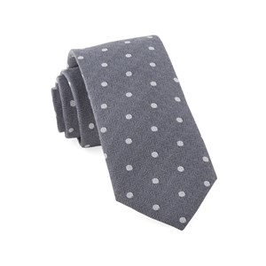 dotted hitch grey ties