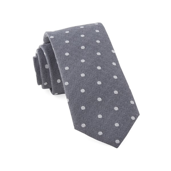 Grey Dotted Hitch Tie