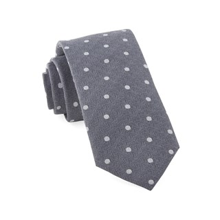 Dotted Hitch Grey Tie