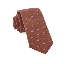 Orange Dotted Hitch ties