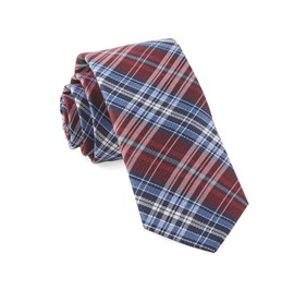 Red Motley Plaid ties