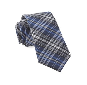 Navy Motley Plaid ties