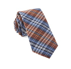 Orange Motley Plaid ties