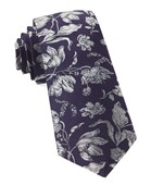 Ties - Floral Swell - Eggplant