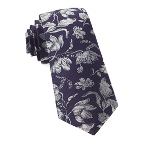 Floral Swell Eggplant Ties