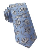Ties - Floral Swell - Light Blue