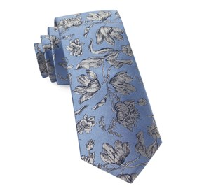 Light Blue Floral Swell ties