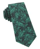 Ties - Bovine Floral - Hunter Green