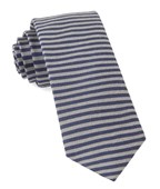Ties - Mighty Stripe - Navy