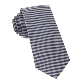 Navy Mighty Stripe ties