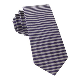 Mighty Stripe Eggplant Ties