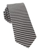 Ties - Mighty Stripe - Black