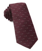 Ties - Arrow Zone - Burgundy