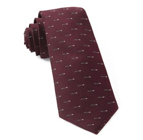Burgundy Arrow Zone ties