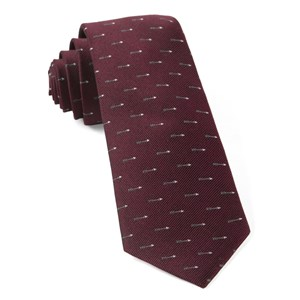 arrow zone burgundy ties