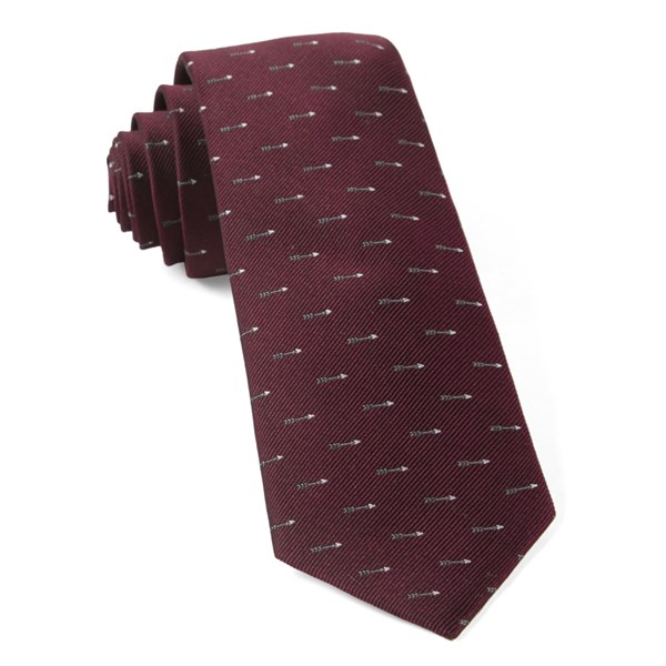 Burgundy Arrow Zone Tie