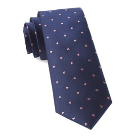 Heart To Heart Navy Ties