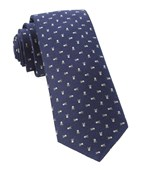 Ties - Mini Skull And Crossbones - Navy
