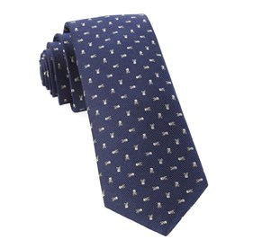 Mini Skull And Crossbones Navy Ties