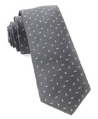 Ties - Mini Skull And Crossbones - Grey