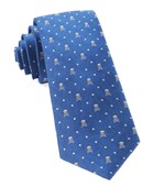 Ties - Skull Dots - Royal Blue