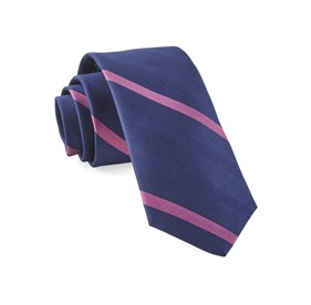 Navy Goal Line Stripe ties