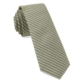 Pier Stripes Sage Green Ties