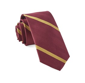 Goal Line Stripe Burgundy Ties