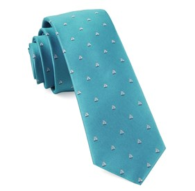 Turquoise Sailboat Sprint ties