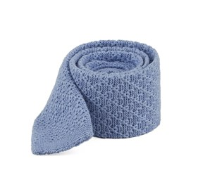 Field Solid Knit Light Blue Ties