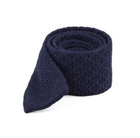 Navy Field Solid Knit ties