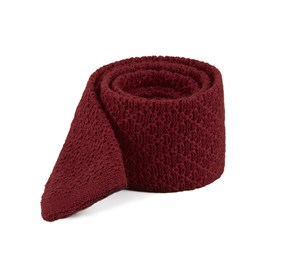 Field Solid Knit Red Ties